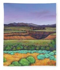 Desert Gorge Fleece Blanket
