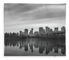 Downtown Vancouver Fleece Blanket