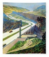 Germany Vintage Travel Poster Restored Fleece Blanket