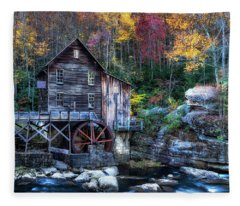 Glade Creek Grist Mill  Fleece Blanket