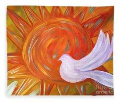 Healing Wings Fleece Blanket