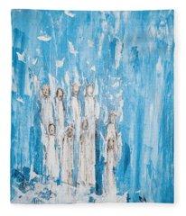 Heavenly Host Of Angels  Fleece Blanket