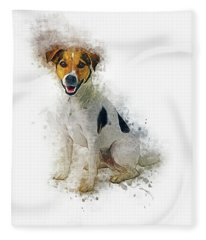 Jack Russell Fleece Blanket