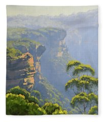 Katoomba Cliffs Fleece Blanket