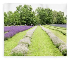 Lavender Farm Fleece Blanket