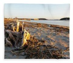 Popham Beach State Park - Phippsburg Maine Usa Fleece Blanket