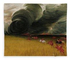 Prairie Meadows Burning, 1832 Fleece Blanket