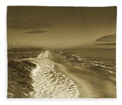 Sand Dunes Along The Oregon Coastline Fleece Blanket