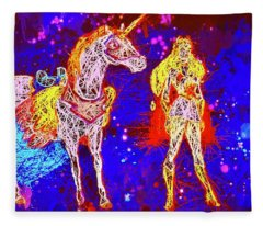 She - Ra And Swift Wind Fleece Blanket