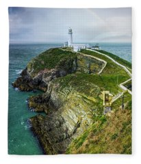 South Stack Lighthouse Fleece Blanket