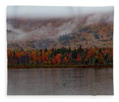 The Basin In Maine Fleece Blanket