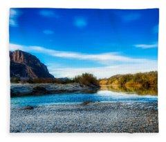 The Rio Grande River Fleece Blanket