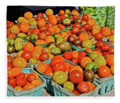 2019 Farmers' Market Spring Green Cherry Tomatoes Fleece Blanket