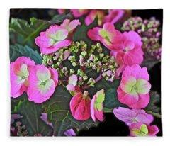 2019 June At The Gardens Tuff Stuff Hydrangea Fleece Blanket