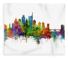 Philadelphia Pennsylvania Skyline Fleece Blanket