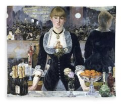 A Bar At The Folies Bergere Fleece Blanket