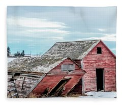 A Sign Of The Times, Run Diown Farm Out Buildings And Barns, Alb Fleece Blanket