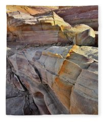 Band Of Gold In Valley Of Fire Fleece Blanket
