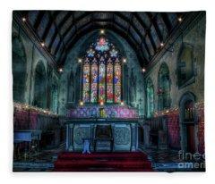 Christmas Church Fleece Blanket