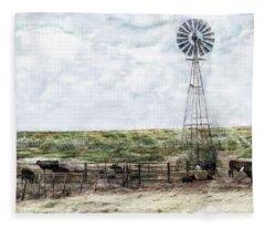 Classic Cattle II Fleece Blanket