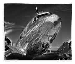 Douglas Dc-3  Fleece Blanket