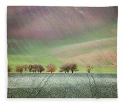 Autumn In South Moravia 3 Fleece Blanket