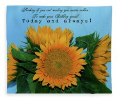 Happy Birthday  Fleece Blanket