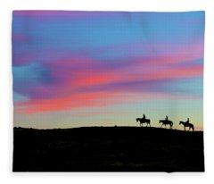 3 Horsemen Fleece Blanket