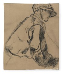 Study Of A Jockey Fleece Blanket