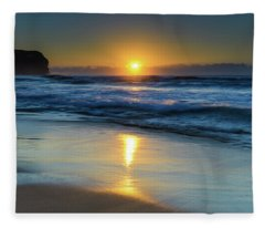 Sunrise Lights Up The Sea Fleece Blanket
