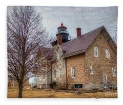 30 Mile Lighthouse  Fleece Blanket
