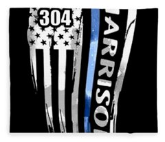 304 Harrison America Patriotic Fleece Blanket