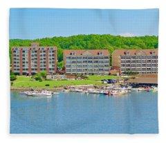 2017 Poker Run, Smith Mountain Lake, Virginia Fleece Blanket