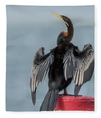 Australasian Darter Fleece Blanket