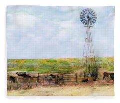 Classic Cattle  Fleece Blanket