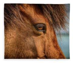 Icelandic Horse Fleece Blanket