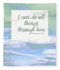 Inspirational Religious Quotes  Fleece Blanket