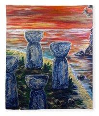 4 Latte Stones Fleece Blanket