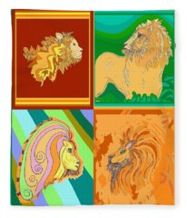 4 Lions Fleece Blanket