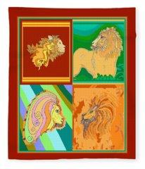 4 Lions Fleece Blanket