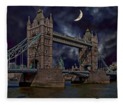 London Tower Bridge Fleece Blanket