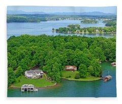 Smith Mountain Lake, Va. Fleece Blanket