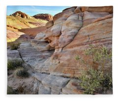 The Colorful Sandstone Of Valley Of Fire Fleece Blanket