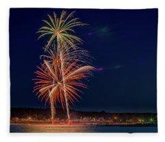 4th Of July Fleece Blanket