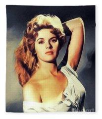 Connie Stevens, Vintage Actress Fleece Blanket