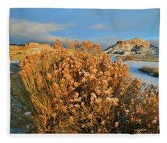 First Light On Ruby Mountain  Fleece Blanket