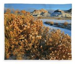 Morning At Ruby Mountain Fleece Blanket