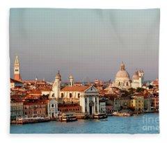 Venice Italy Fleece Blanket