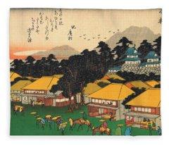 53 Stations Of The Tokaido - Hamamatsu #2 Fleece Blanket