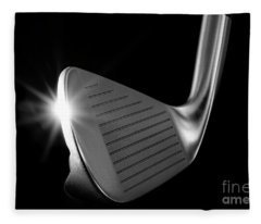 Fleece Blanket featuring the photograph Golf Club Iron by Mats Silvan